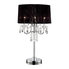 "Crystal Drop 27.5"" H Table Lamp with Empire Shade"