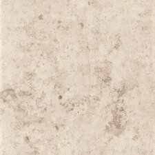 "Jura 16.75"" x 16.75"" Porcelain Metal Tile in Ivory"