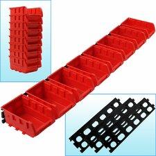 8 Bin Wall Mounted Parts Rack by Trademark Tools