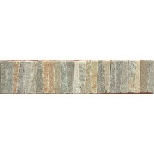 """12"""" x 2.75"""" Stone Mosaic Liner Tile in Amber Gold"""