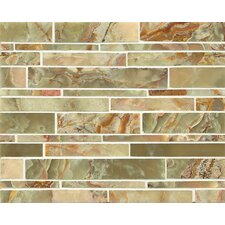 Onyx Random Sized Marble MosaicTile in Palisades Green