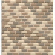 """ID-ology 0.5"""" x 1"""" Glass Mosaic Tile in Fossil"""