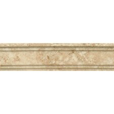 "Honed Marble 12"" x 3"" Chandra Crown Molding Tile in Cappuccino"