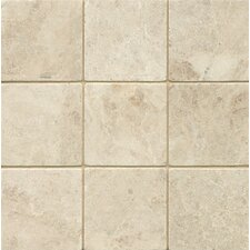 """4"""" x 4"""" Marble Field Tile in Cappuccino"""