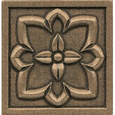 """Ambiance Insert 4"""" x 4"""" Metal and Resin Tile in Bronze"""
