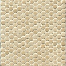 """360° Penny Rounds 12"""" x 12"""" Porcelain Mosaic Tile in Beige"""