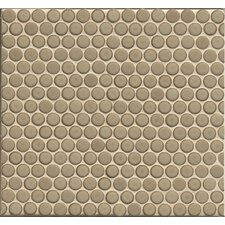 """360° Penny Rounds 12"""" x 12"""" Porcelain Mosaic Tile in Pumice"""