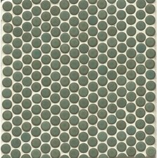"""360° Penny Rounds 12"""" x 12"""" Porcelain Mosaic Tile in Silver Sage"""