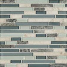 Eclipse Random Sized Glass and Natural Stone Mosaic Tile in Marina