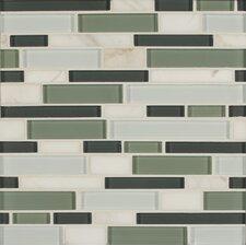 Tiffany Random Sized Glass Mosaic Tile in Green