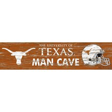 NCAA Distressed Man Cave Graphic Art Plaque