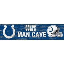 NFL Distressed Man Cave Graphic Art Plaque