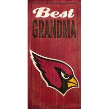 NFL Best Grandma Graphic Art Plaque
