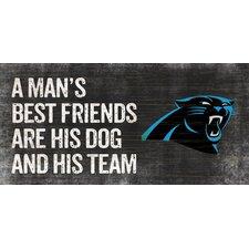 NFL Man's Best Friend Graphic Art Plaque
