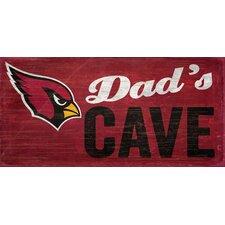 NFL Dad's Cave Graphic Art Plaque
