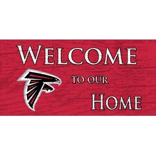 NFL Welcome Home Graphic Art Plaque