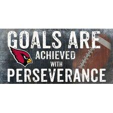 NFL Goals and Perseverance Graphic Art Plaque