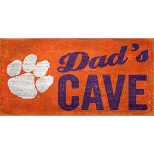 NCAA Dad's Cave Graphic Art Plaque