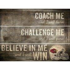 NFL Coach Me Plank Graphic Art Plaque