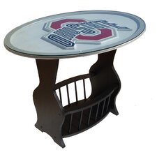 NCAA Glass End Table