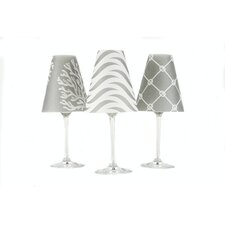 "4.5"" Caribbean Paper Wine Glass Lamp Shade (Set of 6)"