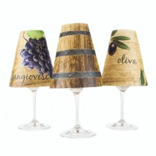 "4.5"" Tuscany Paper Wine Glass Lamp Shade (Set of 6)"