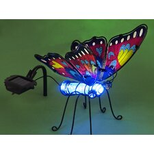 Butterfly with Color Changing Solar Powered LED