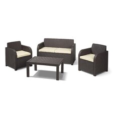 Oklahoma 4 Piece Lounge Seating Group with Cushion