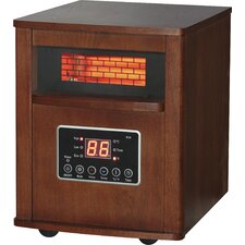 1500 Watt Portable Electric Infrared Cabinet Heater with Remote Control