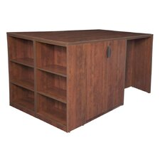 Legacy Desk Shell with Bookshelf