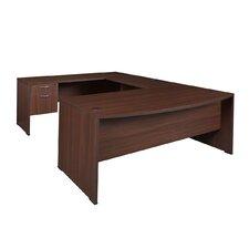"""Sandia Double Pedestal """"U"""" Executive Desk"""
