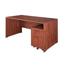 Sandia Desk with Mobile File Pedestal