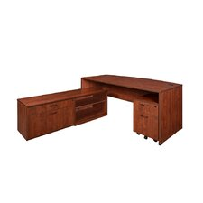 Sandia Standard Desk with Low Credenza