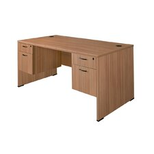 Sandia Writing Desk with Double File Pedestal