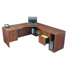 Legacy Computer Desk with Right Angled Corner
