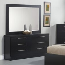 Diamante 6 Drawer Dresser