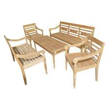 Teak Alwari 5 Piece Seating Group