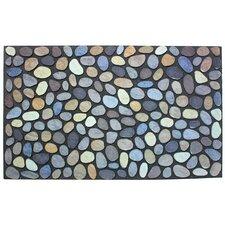 Pebbles Printed Flocked Doormat