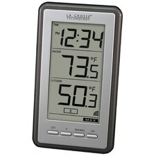 Wireless LCD Thermometer Wall Clock