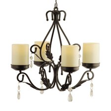 Pacific Accents Charleston 3-in-1 In/Out Chandelier/Wall Sconce