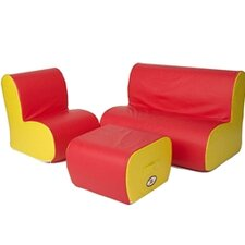 Kids Cloud Seating Group and Ottoman