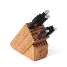Twin Four Star II 7 Piece Cutlery Block Set