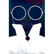 Glasses Girl Graphic Art on Canvas