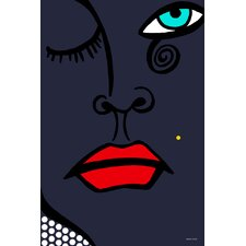 'Beauty Mark' Graphic Art on Wrapped Canvas