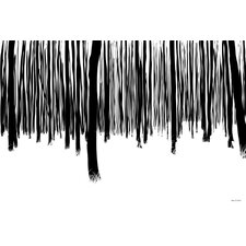 Black and White Forest Graphic Art on Wrapped Canvas
