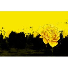'Yellow Rose' Flower Graphic Art on Wrapped Canvas