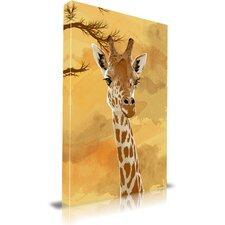 'Giraffe' Children Animal Graphic Art on Wrapped Canvas