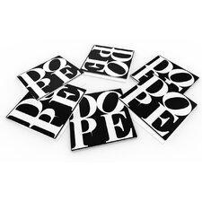 """DOPE-Black"" Coaster (Set of 6)"