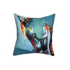 'Blue Stallion' Throw Pillow
