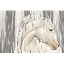 'White Horse' Graphic Art on Wrapped Canvas